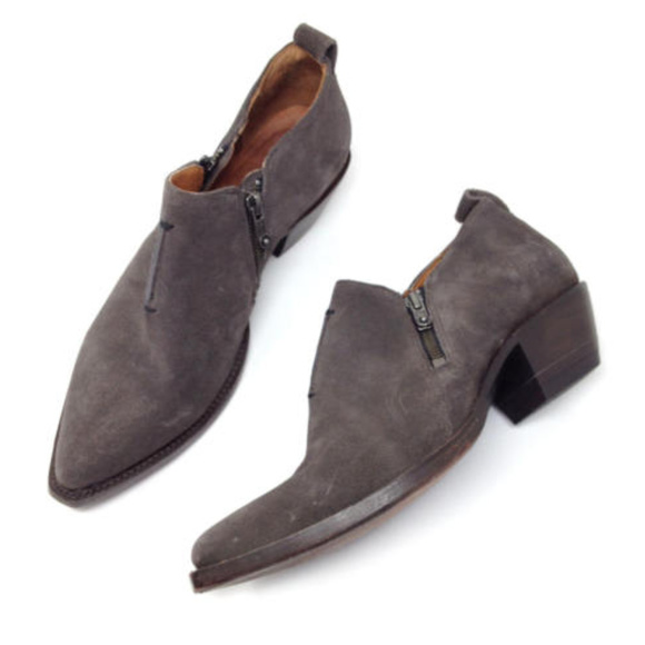 658a1700f5778 Frye Shoes | Sacha Moto Shootie Gray Suede Ankle Boots 9 | Poshmark